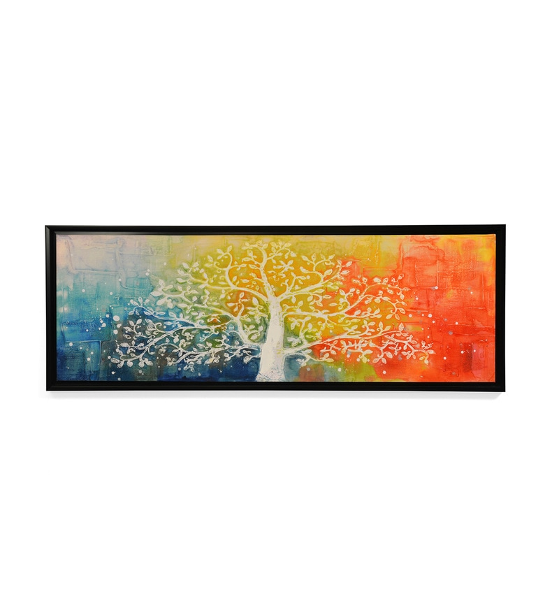 Canvas & MDF 47.2 x 1.2 x 7.9 Inch Enchanted Tree of Life Framed Art Print by @ Home