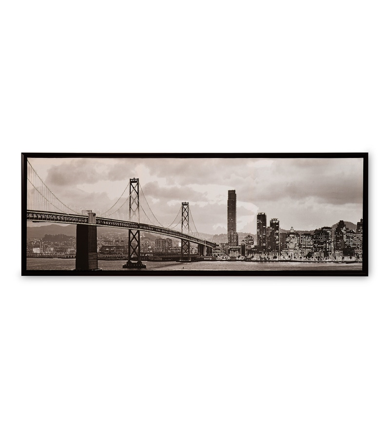 Canvas & MDF 59.1 x 1.2 x 19.7 Inch Urban City Life Framed Art Print by @ Home