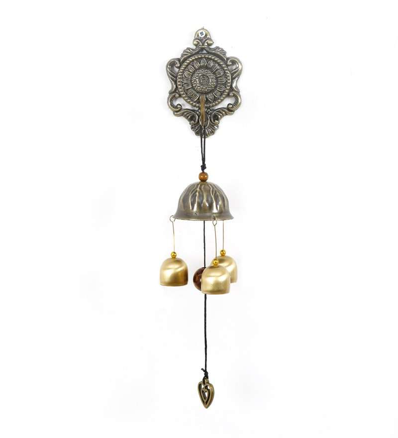 Multicolour Metal Wall Magnet Wind Chime by @ Home