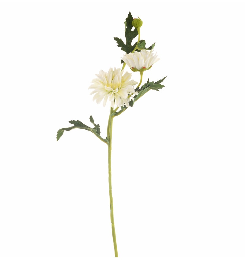 White Synthetic Artificial Flowers by @ Home