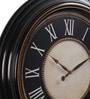 @ Home Black Plastic Romano2 Wall Clock