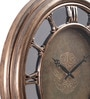 @ Home Gold Plastic Mirror Antique Wall Clock