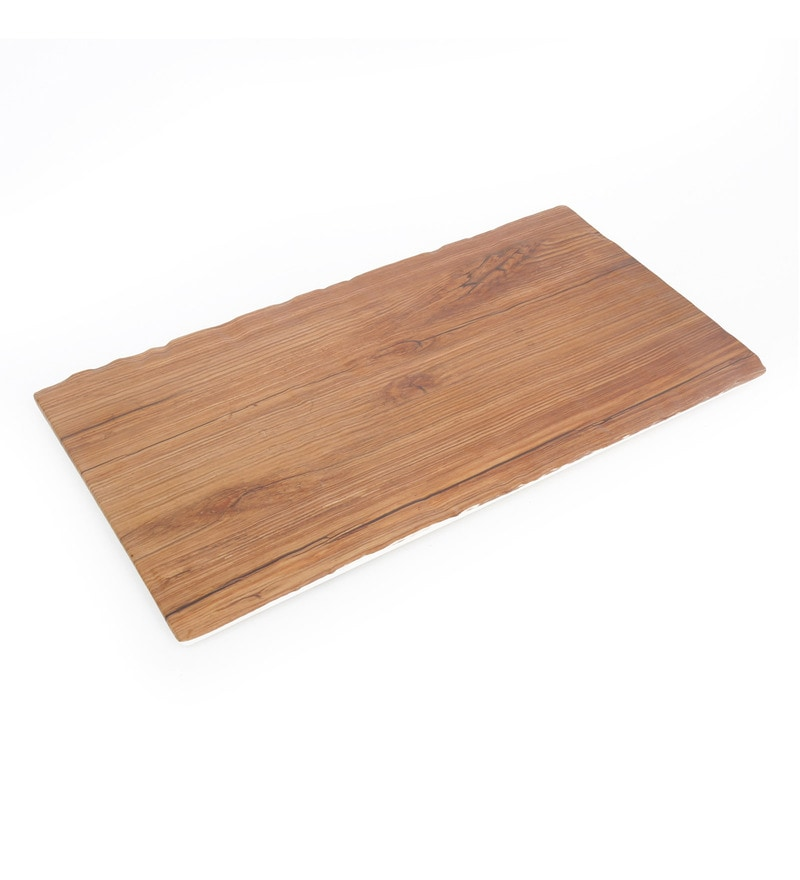 @Home Beige Wood Serving Tray