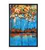 @ Home By Nilkamal Green & Blue Canvas 35.83 x 1.81 x 23.62 Inch Framed Painting