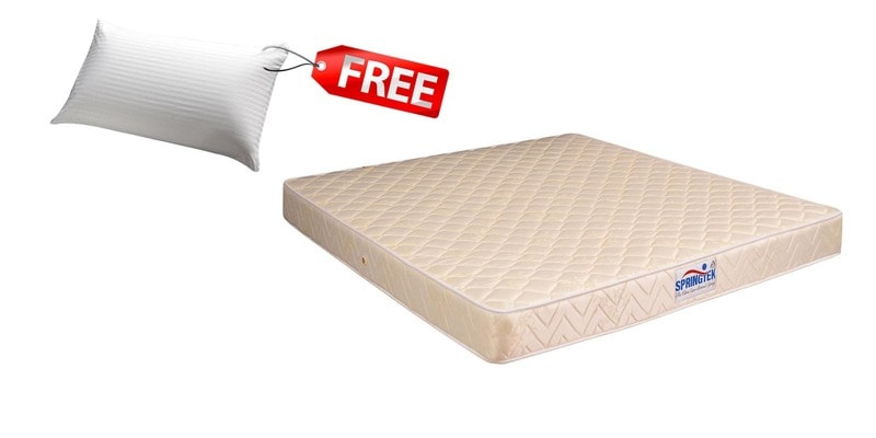 Ultra Care 10 Inches Thick Bonnell Spring Mattress (FREE Pillow) by Springtek