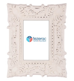 10.5 X 1.8 X 8.5 Inch Bloom Solid Wood Photo Frame In White Color