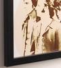 10am Wood & Canvas 10 x 0.5 x 10 Inch Beatles Framed Digital Poster