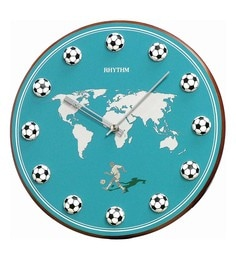 11.8 X 1.5 X 11.8 Inch Wall Clock 3D Football Index Analog Clock