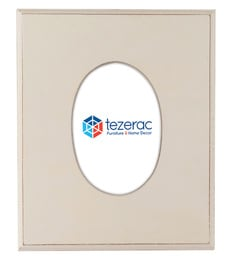 12 X 0.8 X 10 Inch Greenwich Solid Wood Photo Frame In White Color