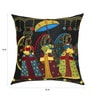 Multicolour Art Silk 16 x 16 Inch Wedding Procession Traditional Style, Applique & Embroidery Cushion Cover by 13 Odds