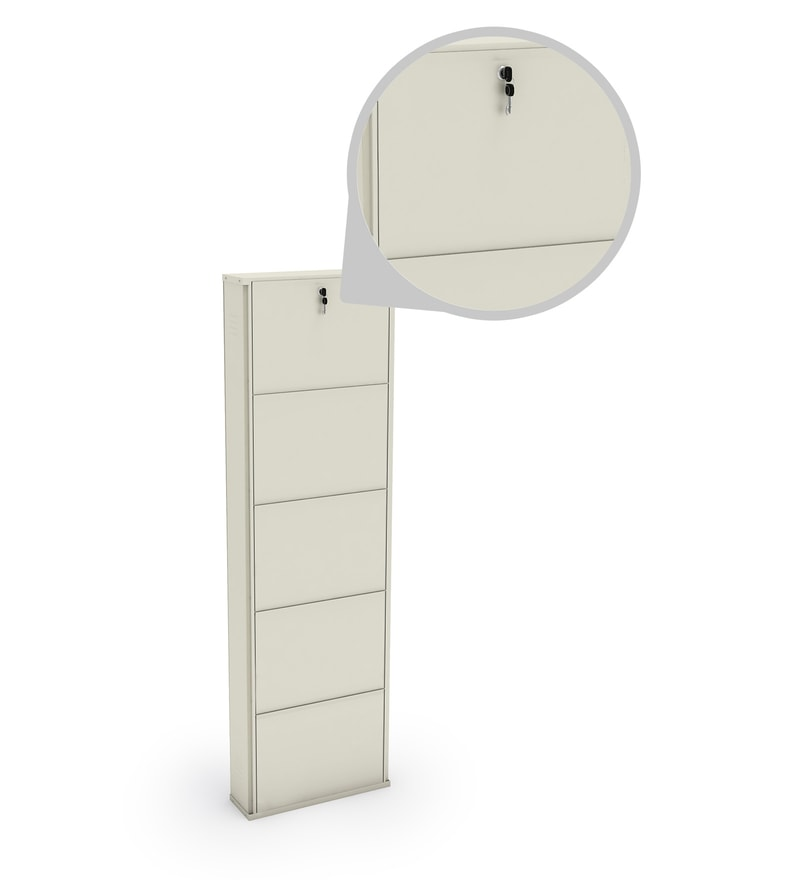 Buy 20 Inches Five Door Powder Coated Wall Mounted