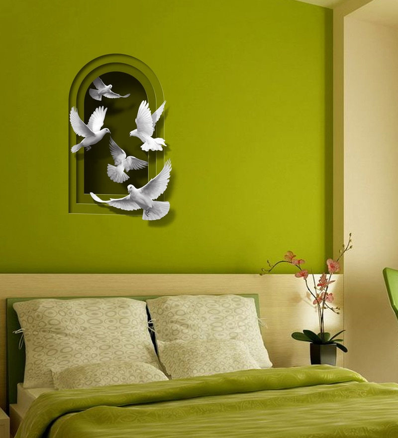 Buy 3D Illusion Effect Peace With Doves Wall Decal by Autographix ...