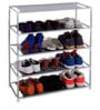Pindia Fabric Grey 4-Layer Shoe Rack