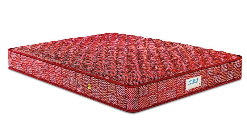 Normal Top 6 Inches Thick Bonnell Spring Mattress in Maroon by Hypnos