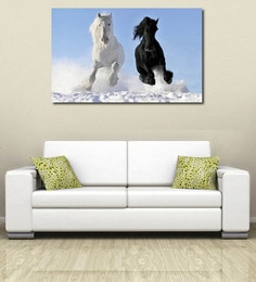 999 Store Running Horses at Ice Vinyl Home Decor PVC Wall Sticker 999Store at pepperfry