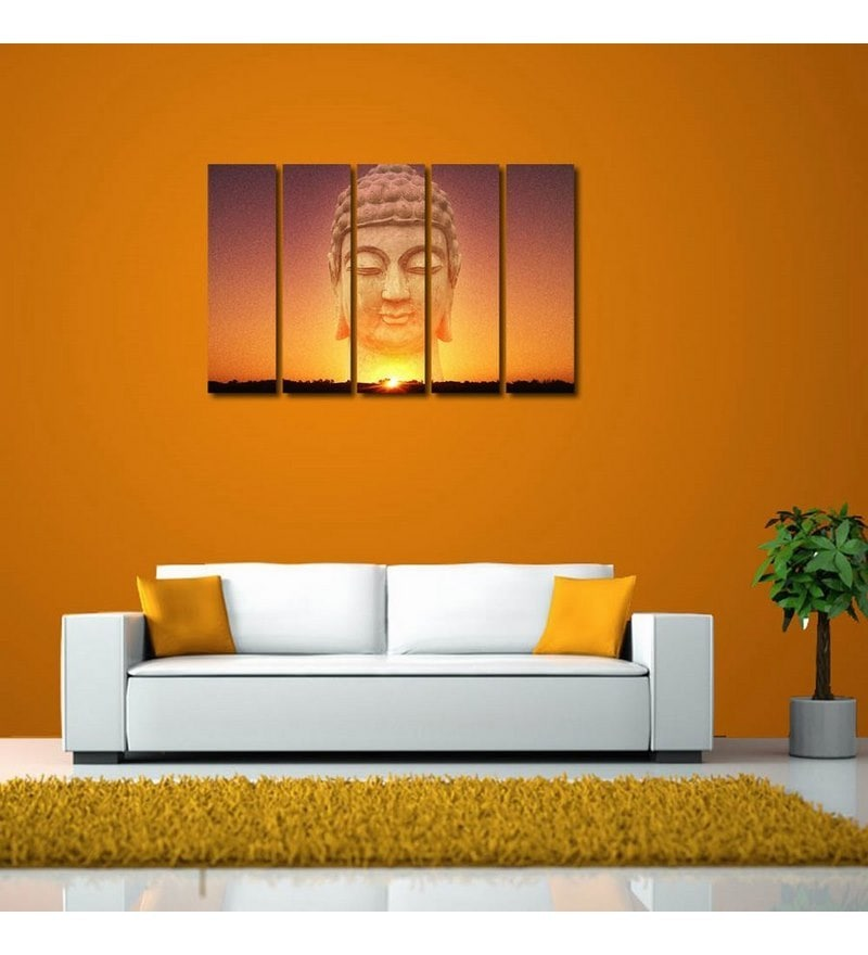 Sun Board 10 x 29 Inch Shining Buddha Durable Painting - Set of 5 by 999Store