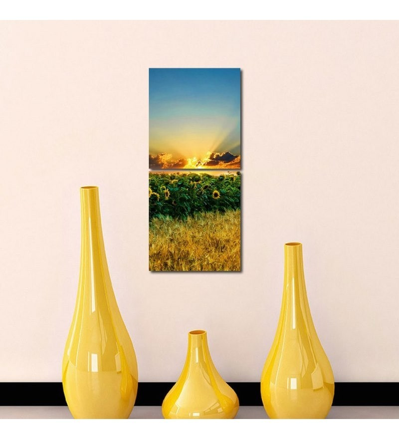 Sun Board 15 x 17 Inch Sunrise At Sunflower Durable Painting - Set of 2 by 999Store