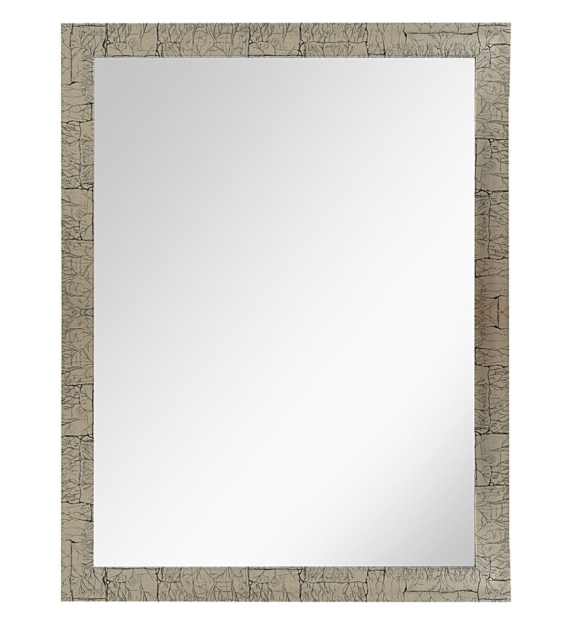 999Store Natural Multicolred Fiber Framed Bathroom Mirror