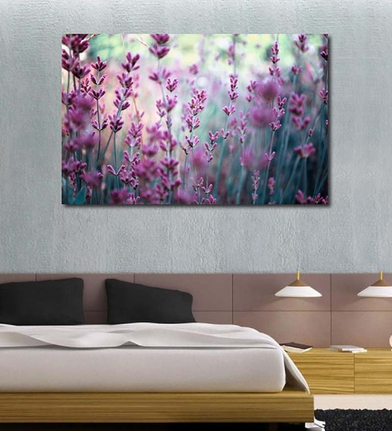 Vinyl Purple Flowers Wall Sticker by 999Store