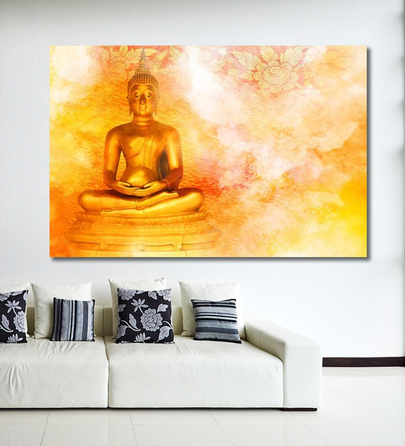 Buy Retcomm Art Captivating Lord Buddha Oil Painting Online ...