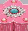 999Store Multicolour Wooden Handmade Flower Mukhwas Tilak Supari Kumkum Sindoor Dibbi Box