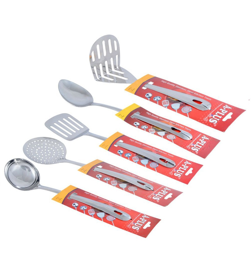 A-Plus Stainless Steel Cooking Tools - Set of 5