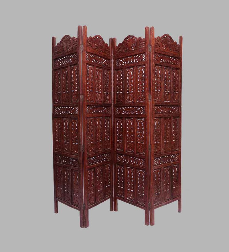 Brown Sheesham Wood Hand Crafted Partition Screen by Aarsun Woods