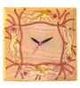 Aamori Brown Wooden Desk Clock