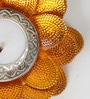 Brown & Gold Wax Floral Shape Floating Tea Light - Set of 2 by Aapno Rajasthan