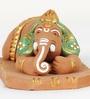 Aapno Rajasthan Brown & Green Terracotta Bal Ganesh