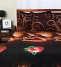 Aapno Rajasthan Brown Polyester Chocolate & Strawberry Double Bed Sheet Set