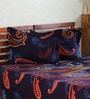 Aapno Rajasthan Indigo Paisley King Bed Sheet Set