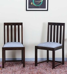 Abbey Dining Chair (Set Of Two) In Warm Chestnut Finish