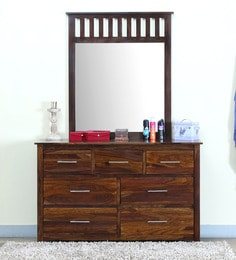 Attirant Abbey Solid Wood Dressing Table With Mirror In Provincial Teak Finish ...