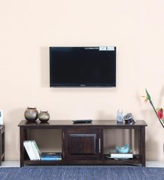 Abbey Entertainment Unit In Warm Chestnut Finish