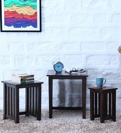 Abbey Set Of Tables In Warm Chestnut Finish