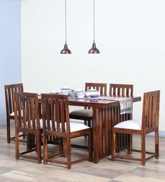 Abbey Six Seater Dining Set In Provincial Teak Finish