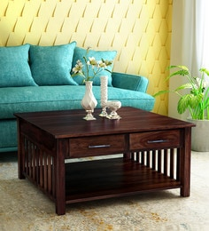 Abbey Solid Wood Coffee Table In Provincial Teak Finish