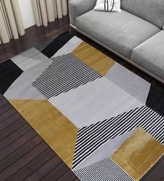 Abstract Pattern Polypropylene 5.58 X 3.94 Feet Machine Woven Carpet ...