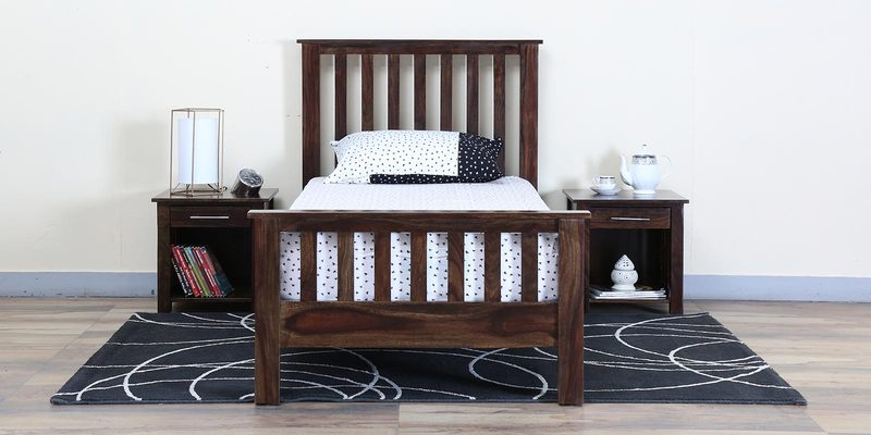 Abbey Single Bed in Provincial Teak Finish by Woodsworth