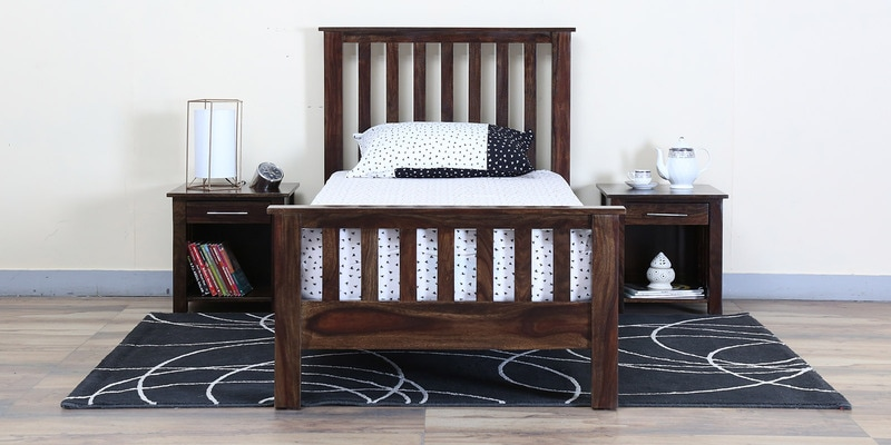 Abbey Single Bed in Warm Chestnut Finish by Woodsworth