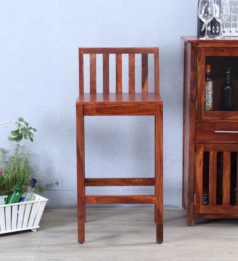 Abbey Bar Chair in Honey Oak Finish by Woodsworth