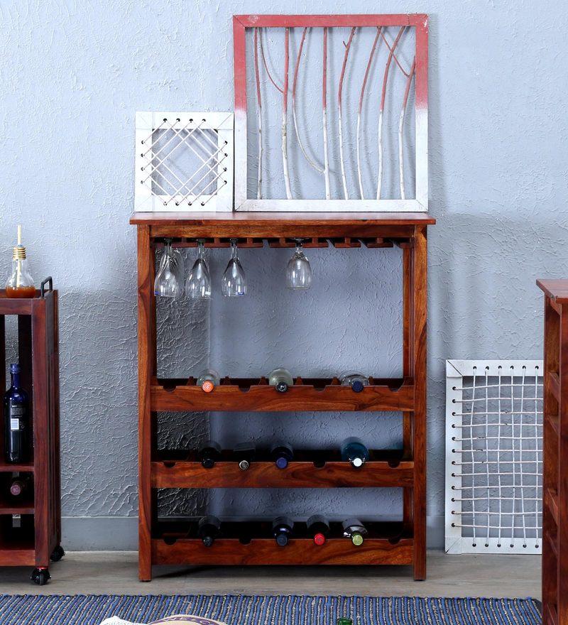Abbey Wine Rack in Honey Oak Finish by Woodsworth