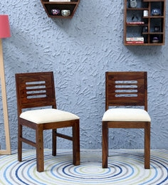 Acropolis Cushioned Dining Chair (Set Of 2) In Provincial Teak Finish