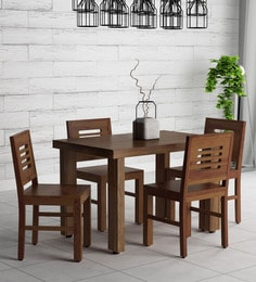 f8faa7f678a Acropolis Solid Wood Four Seater Dining Set in Provincial Teak Finish ...