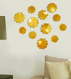 Acrylic Gold Peri Winkles Wall Decals