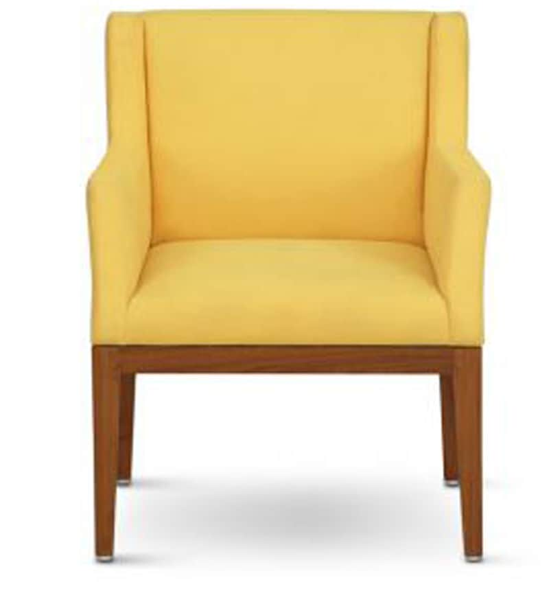 Buy Accent Chair In Yellow Colour By Furnituretech Online