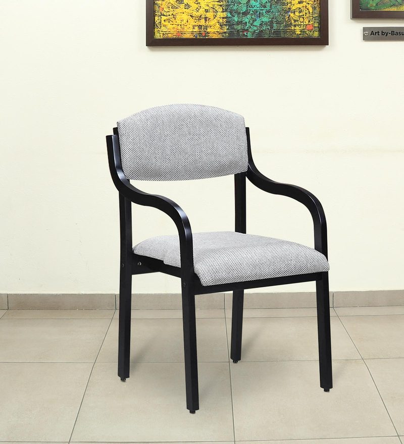 Accent Chair with Back Cushion in Wenge Finish by Crystal Furnitech