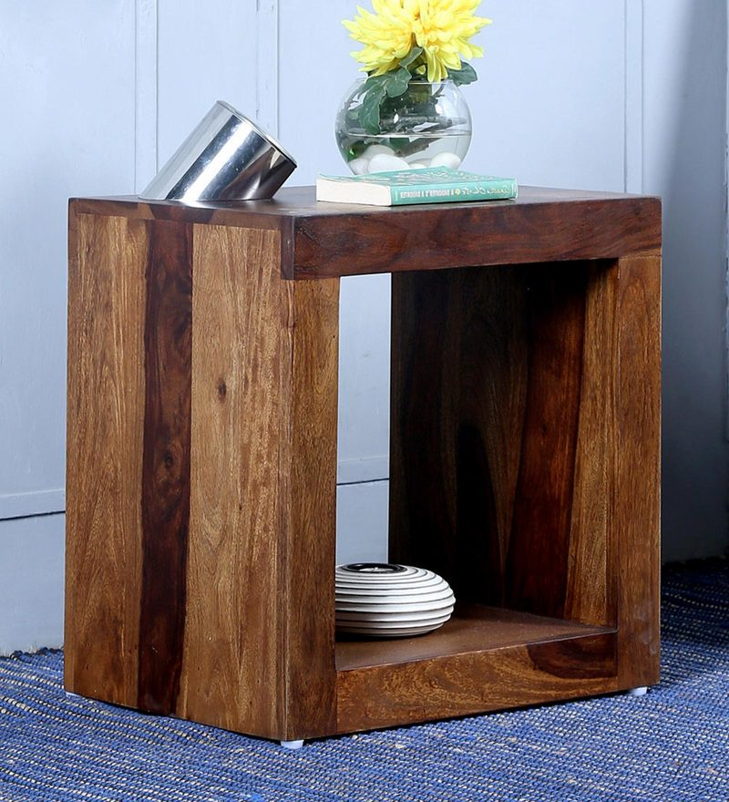 Acropolis End Table in Provincial Teak Finish by Woodsworth