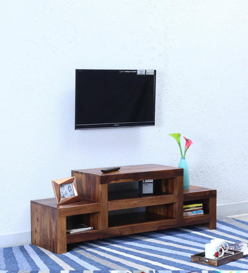 Acropolis Entertainment Unit in Provincial Teak Finish by Woodsworth
